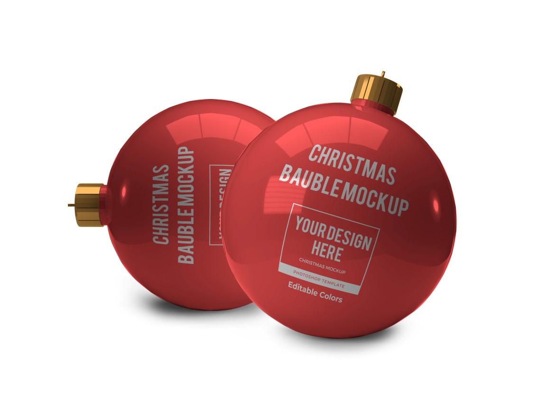 Christmas Bauble Ball Mockup Bundle 2 - 10 31 -