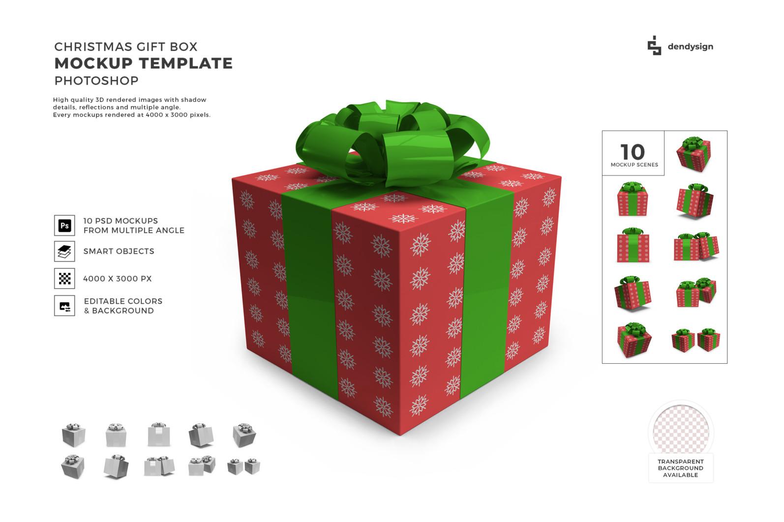 Christmas Gift Box Mockup Bundle - Preview32 7 -
