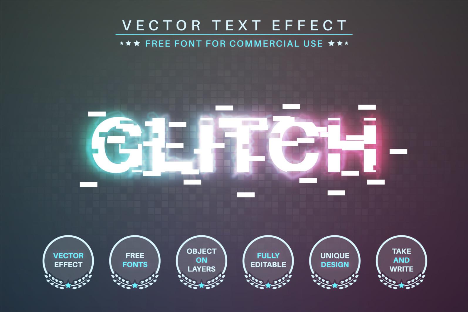 Glitch - Editable Text Effect, Font Style - 365 glitch 2340X1560 -