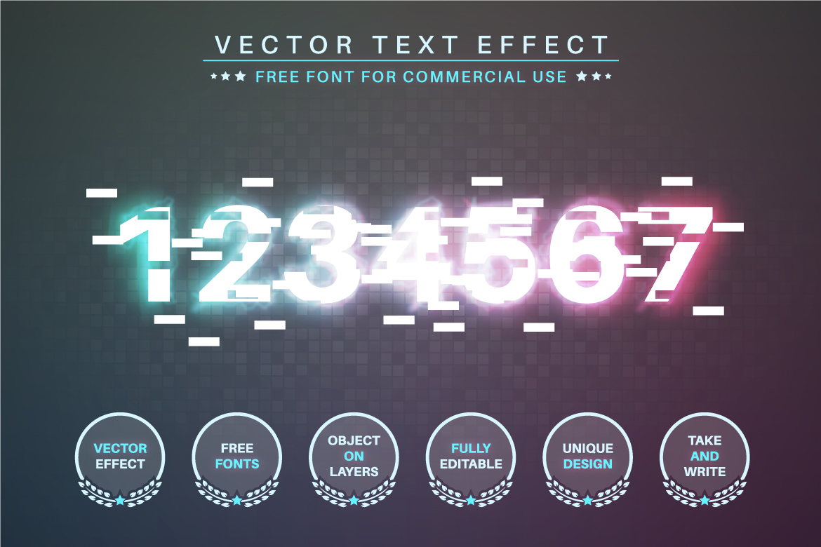 Glitch - Editable Text Effect, Font Style - c 29 -