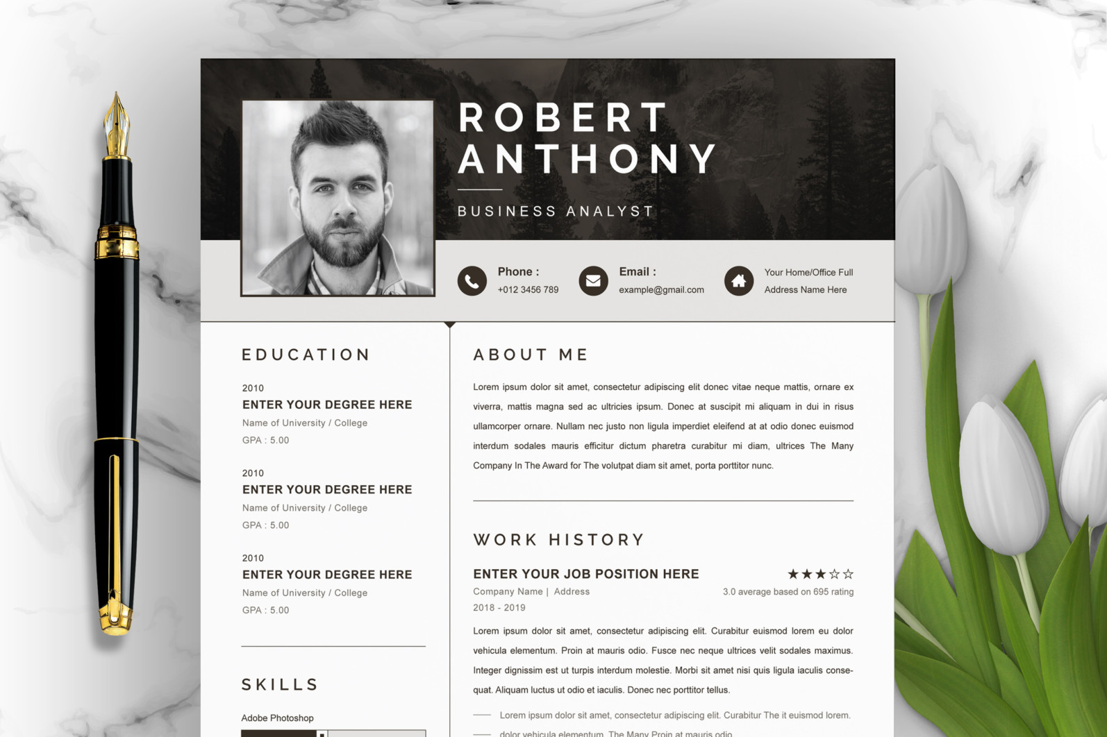 Professional Resume, Instant Download - Main Photo 8 scaled -