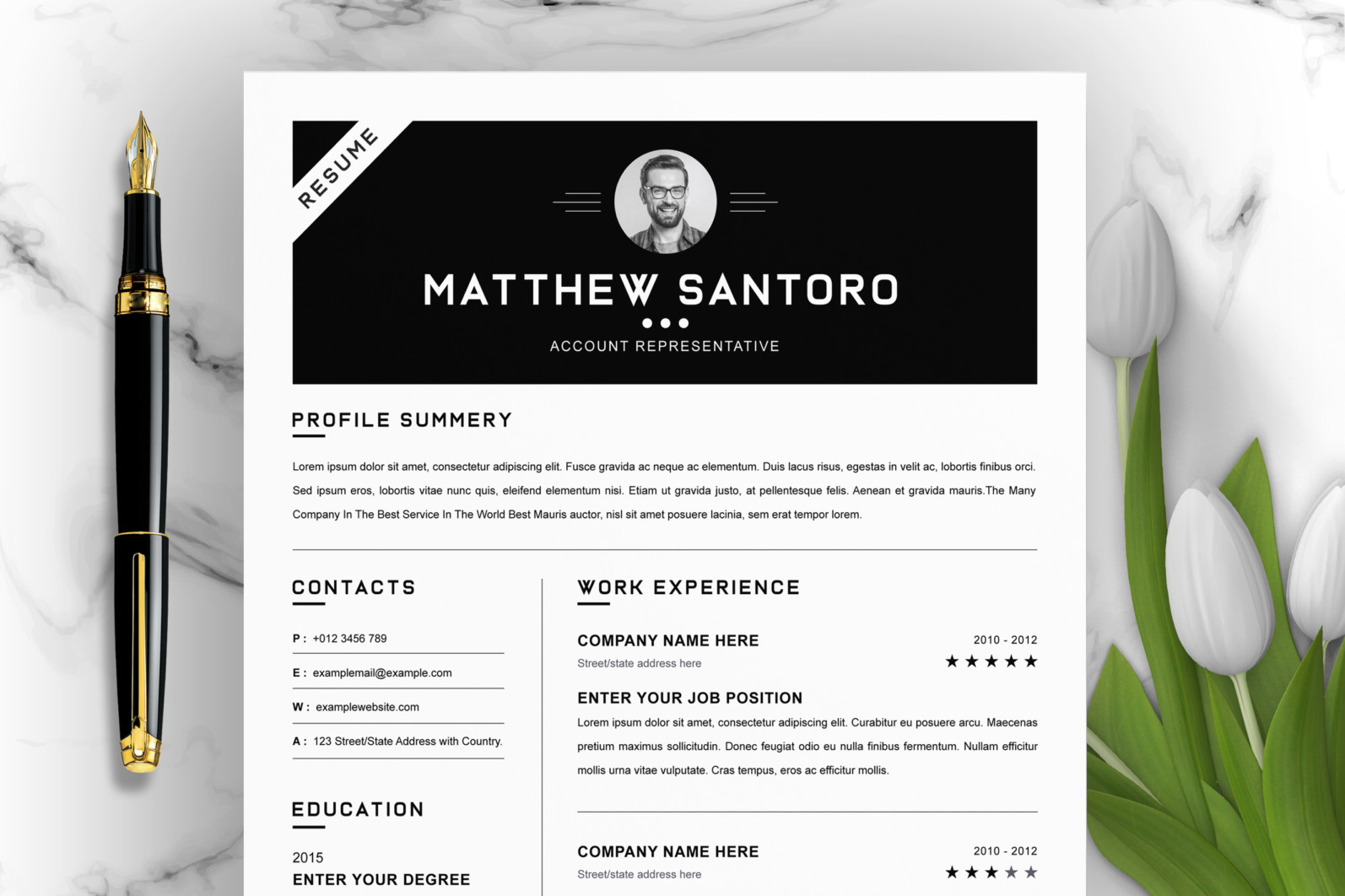 Simple Resume Design 2021 - Main Photo 9 scaled -
