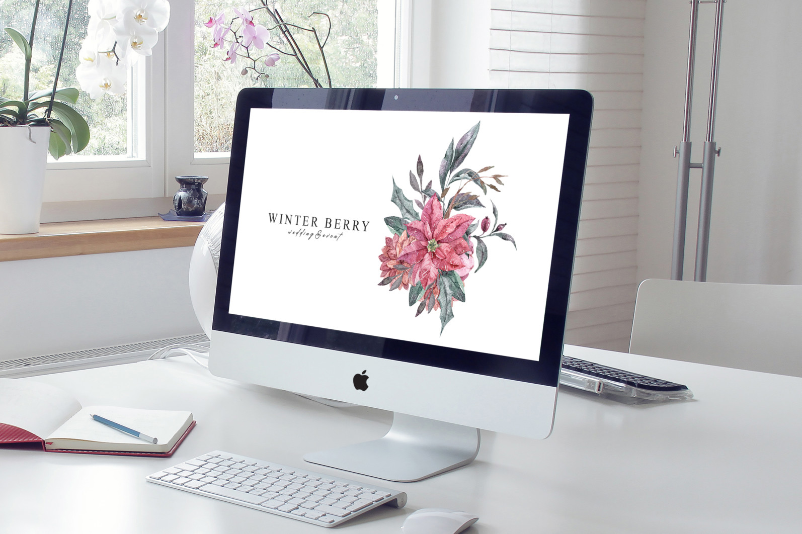 Floral bouquets sublimation / clipart- 3 png files - Free Elegant Interior iMac Pro Mockup PSD 2018 scaled -