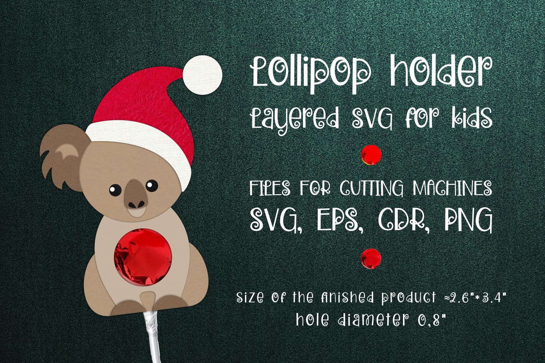 Koala Christmas Lollipop Holder Template SVG - 1 36 -