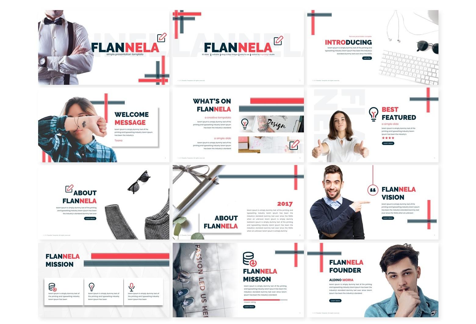 Flannela Google Slide Template - Slide1 45 -