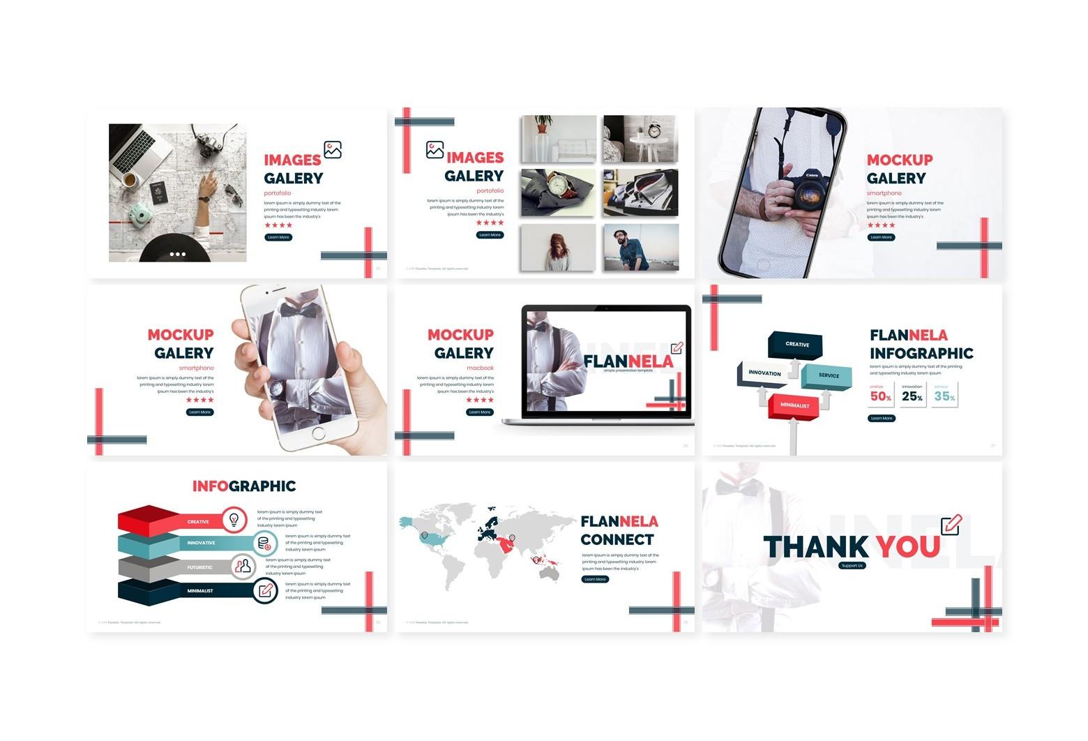 Flannela Google Slide Template - Slide3 46 -