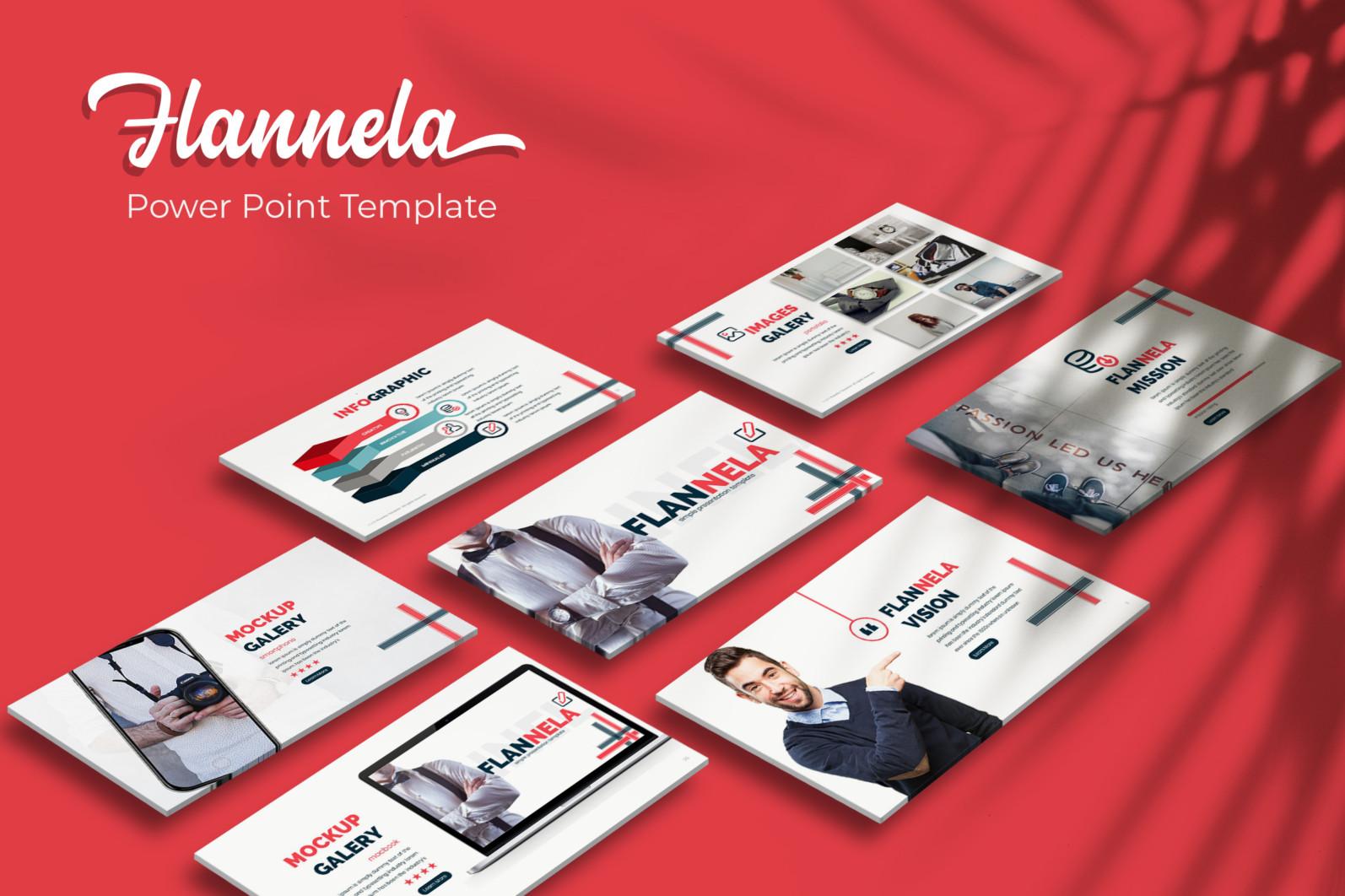 Flannela Power Point Template - Flannela PowerPoint Template -