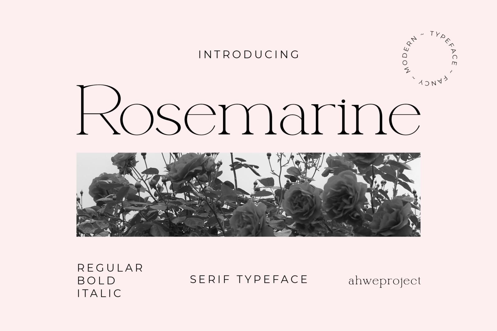 Rosemarine - Rosemarine Fonts 16042507 1 1 -