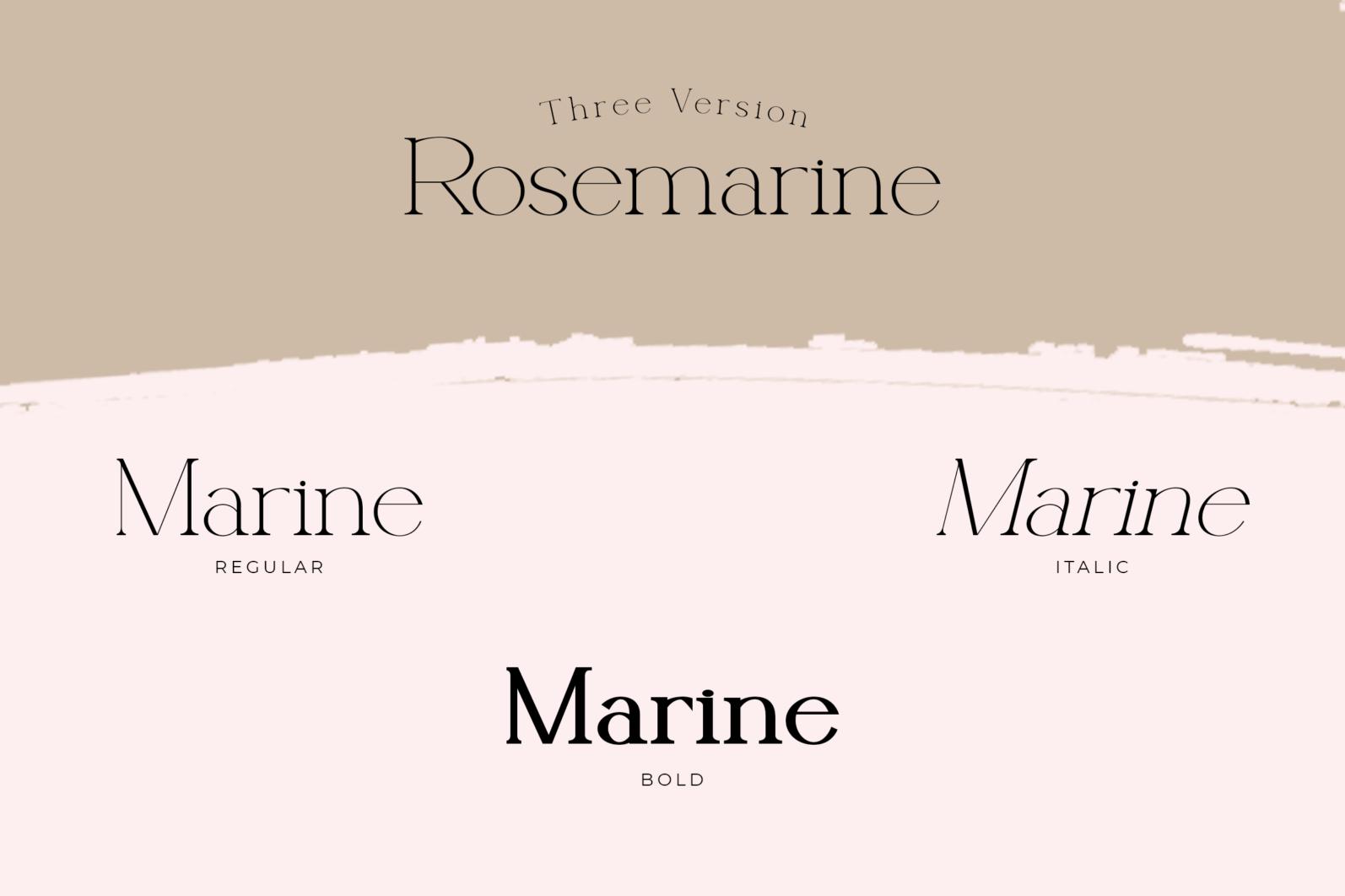 Rosemarine - Rosemarine Fonts 16042507 2 -