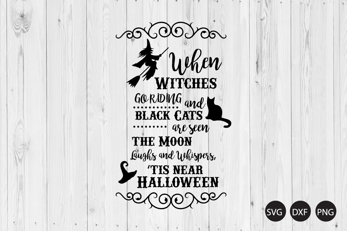 Witch Crossing SVG, Witch Quote SVG, Halloween SVG - Witch Crossing -