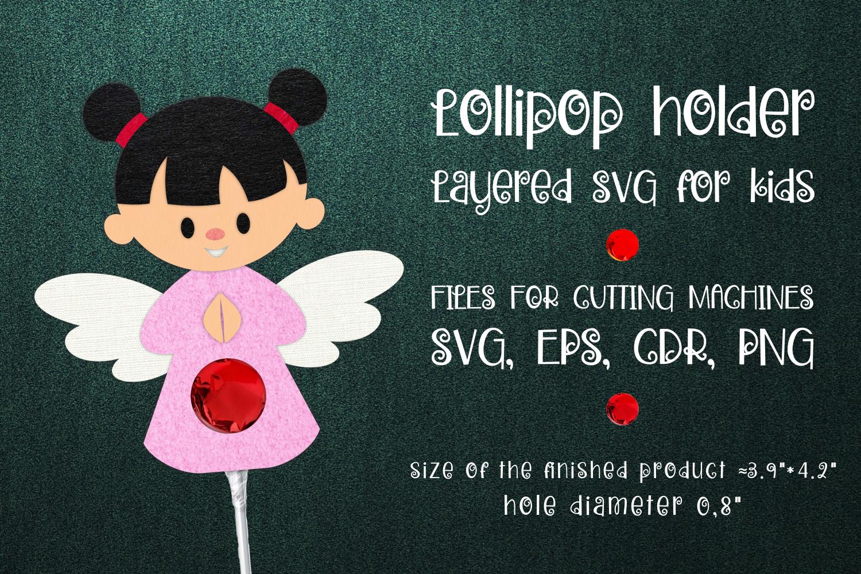 Girl Angel Lollipop Holder Template SVG - 1 37 -