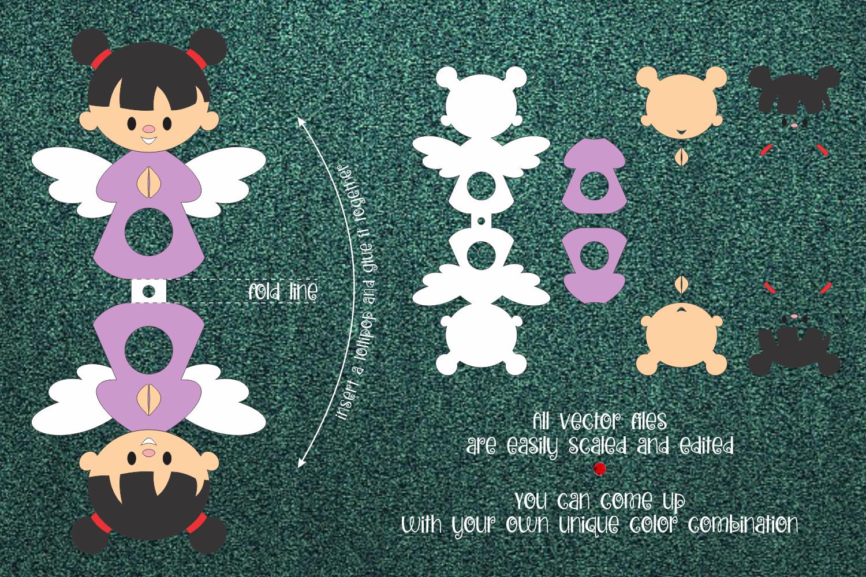 Girl Angel Lollipop Holder Template SVG - 2 43 -