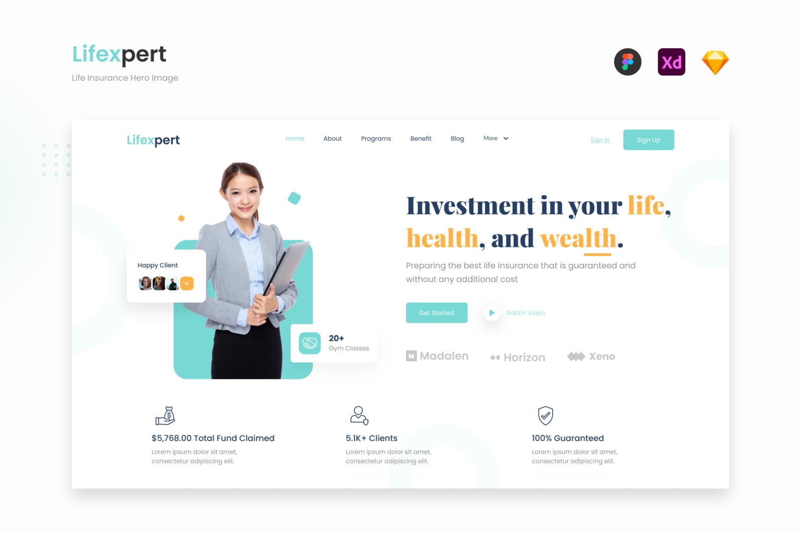 Lifexpert - Modern Life Insurance Website Landing - Cover 1 -