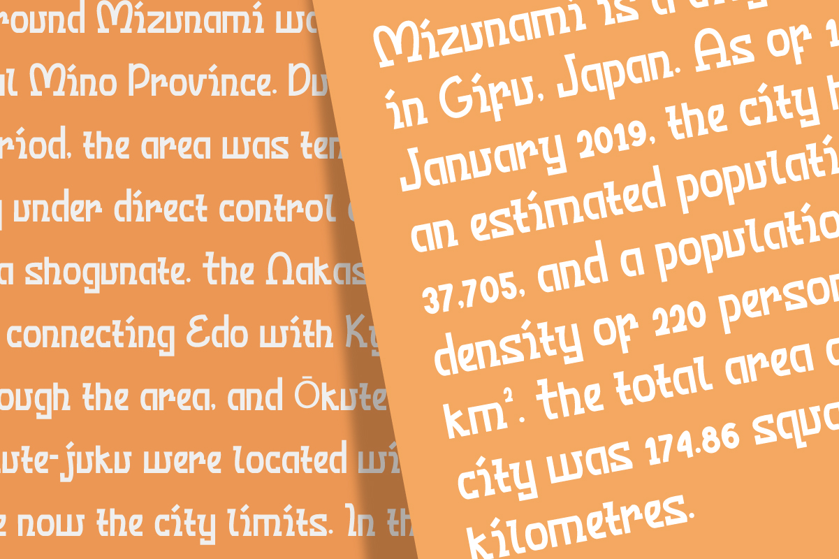 Mizunami Japanese Font - Mizunami 4 -
