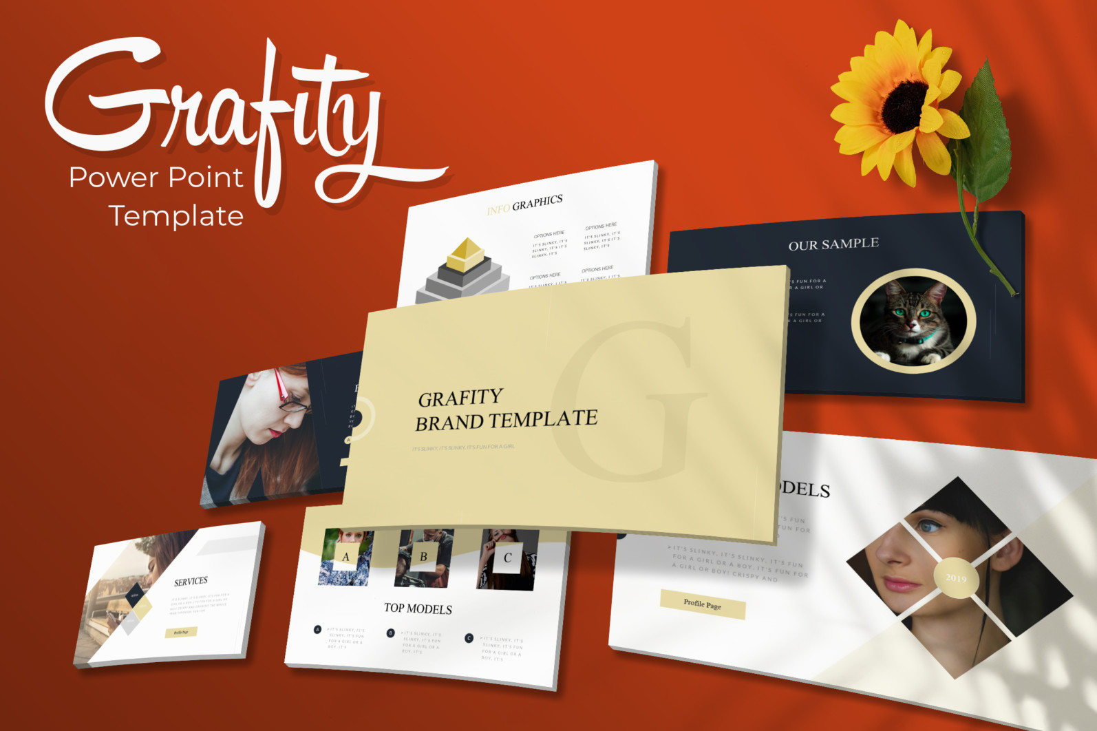 Grafity Power Point Template - Grafity Powerpoint Template -
