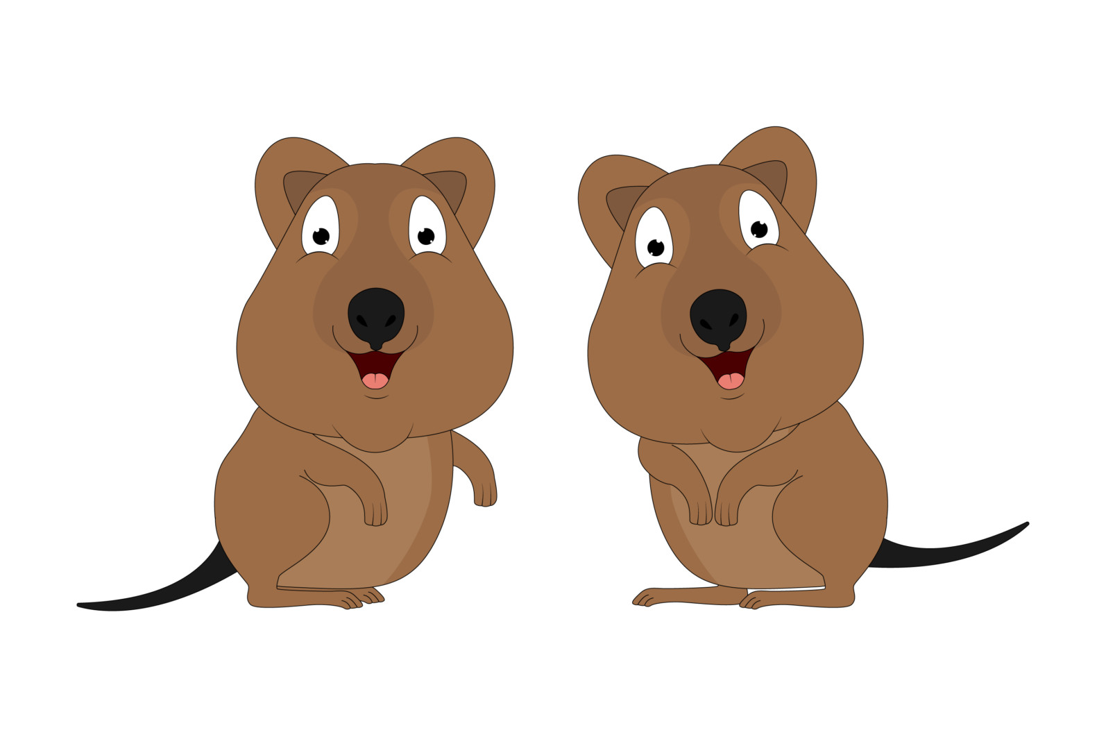 cute quokka animal cartoon illustration - quokka scaled -