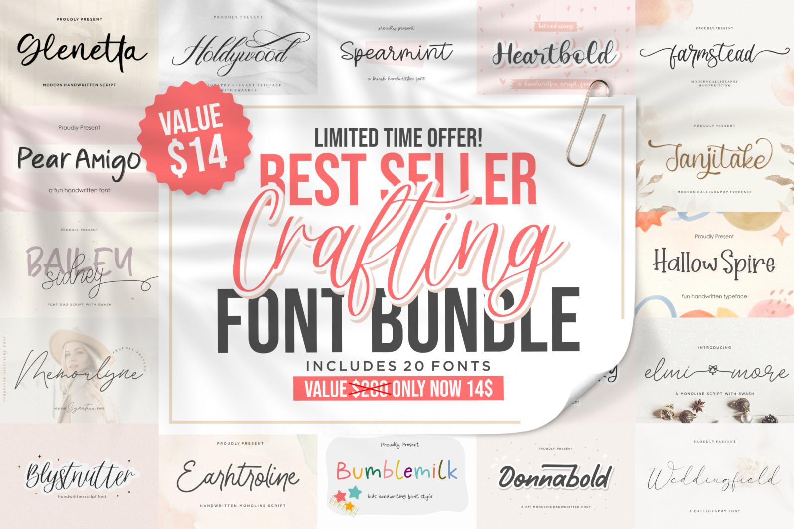 Crafting Font Bundle - bundleee -