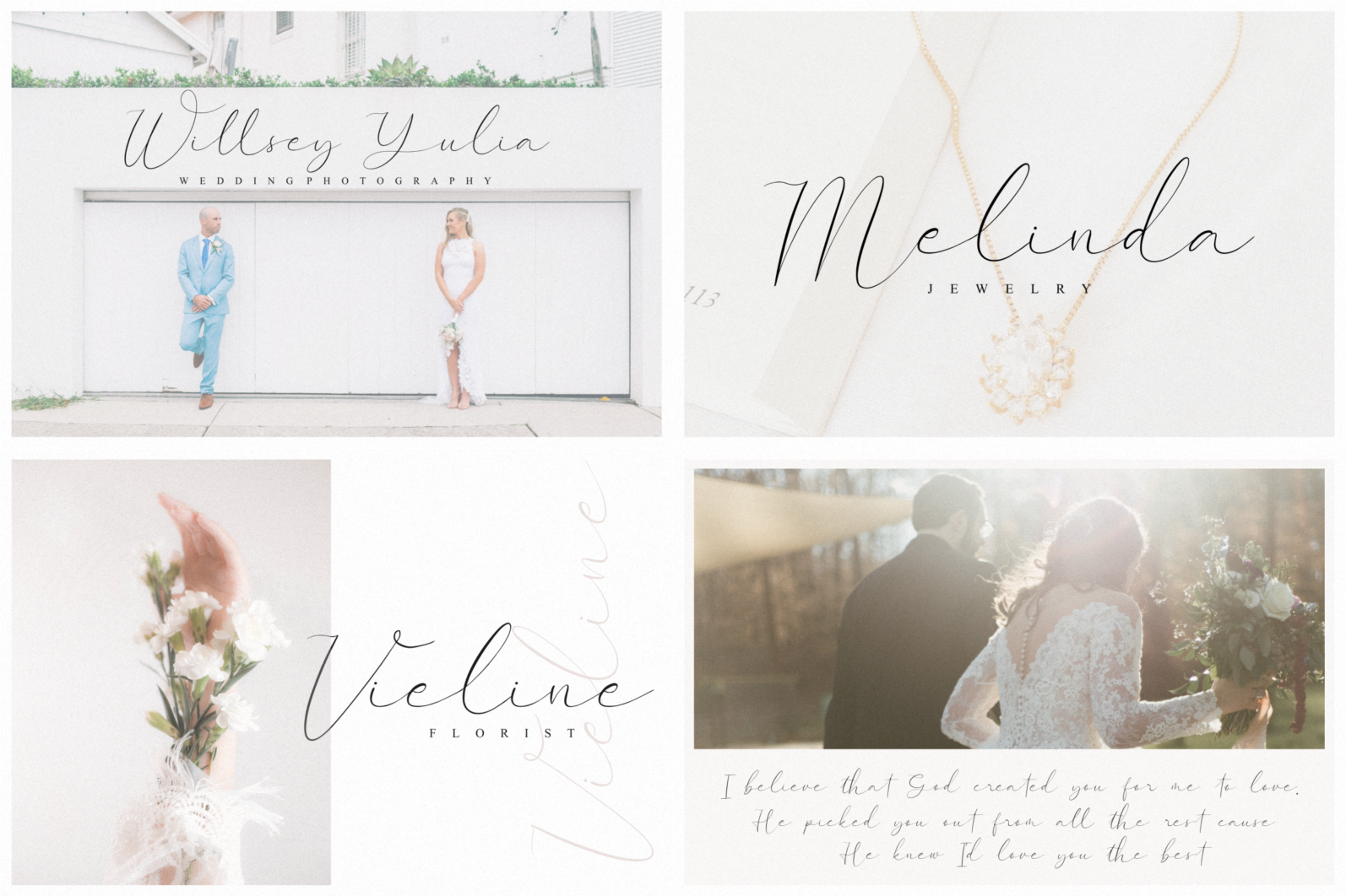 Crafting Font Bundle - Weddingfield -