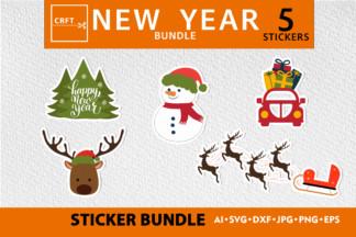 "<span style=""display: none"">Craft Bundles</span> - new year stikers 5 -"