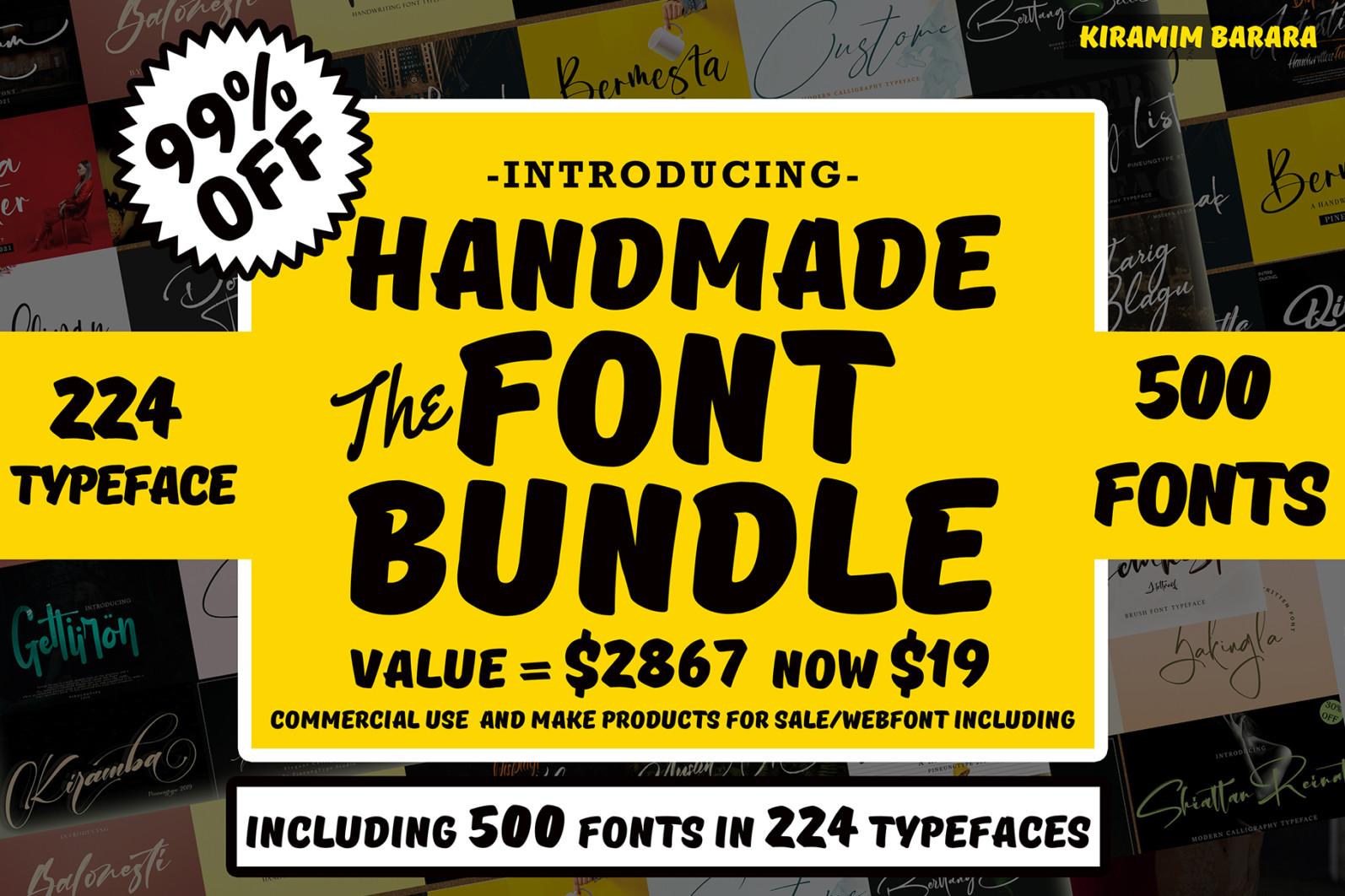 500 Handwritten Font Bundle !!! - 22 1 -