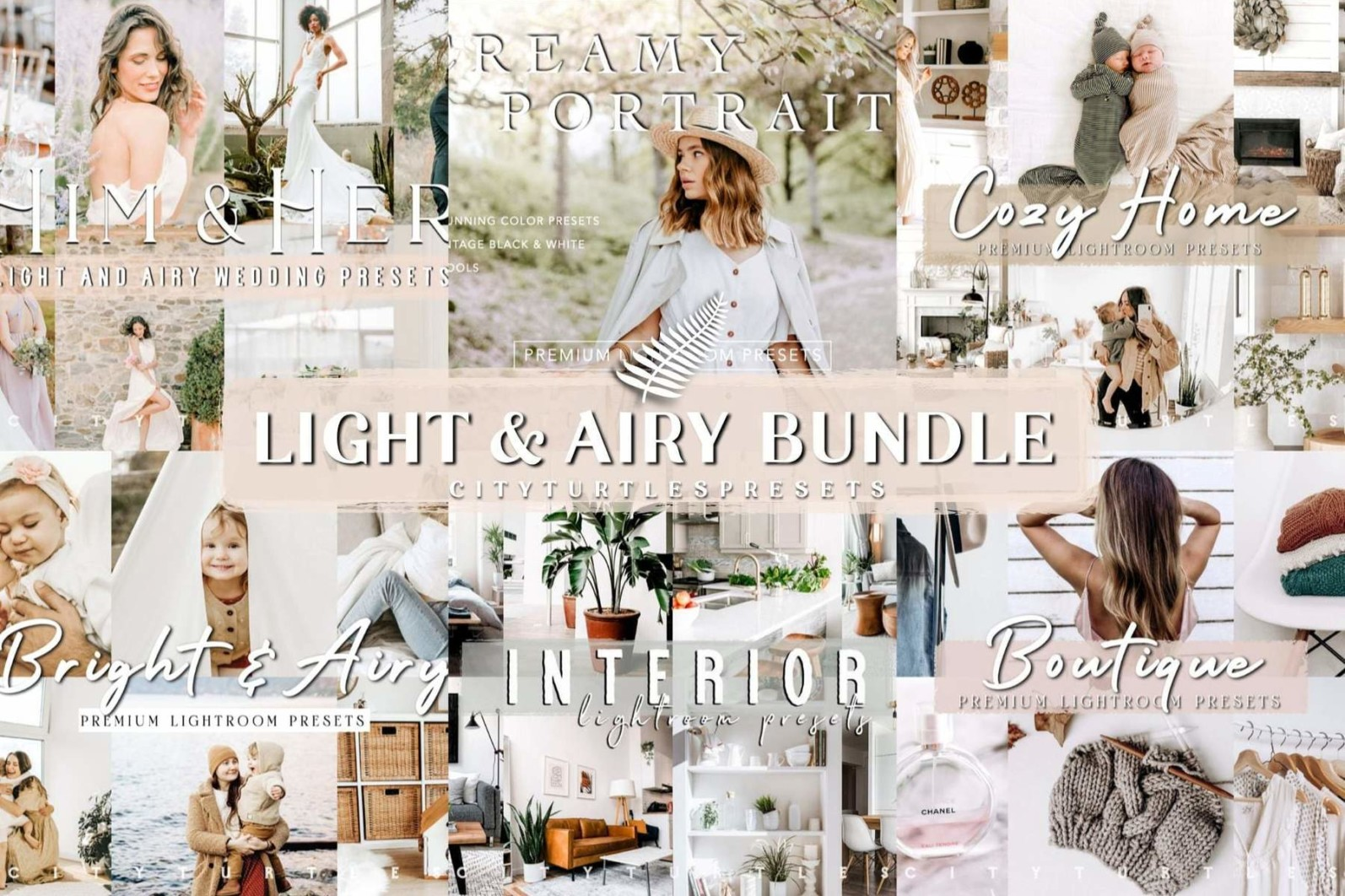 THE LIGHT & AIRY BUNDLE - Natural Clean Bright Lightroom Presets for Desktop + Mobile - light airy preset bundle lightroom desktop mobile filters photo editing best photography presets -