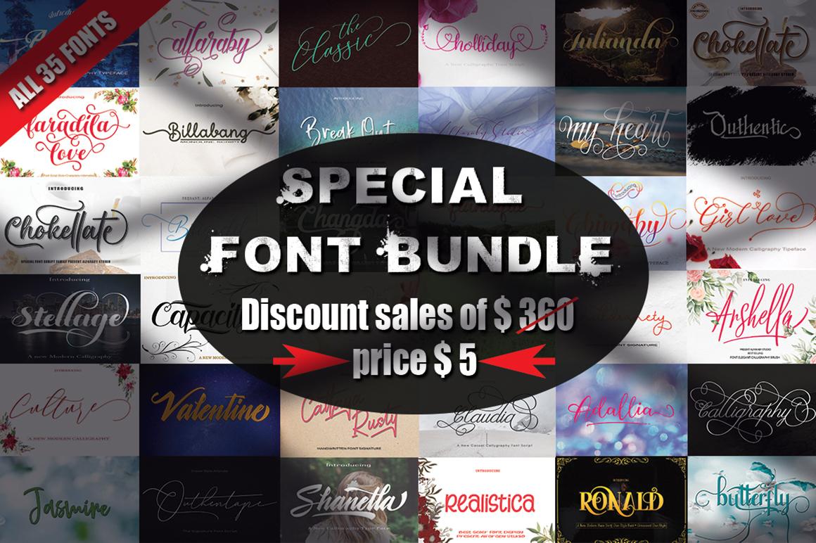 Special Font Bundle - bayangan -